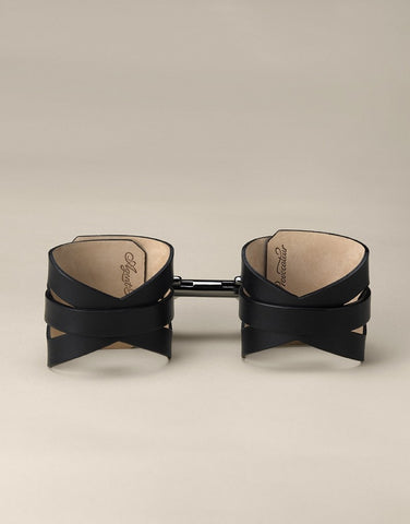 Veronika Leather Double Cuff