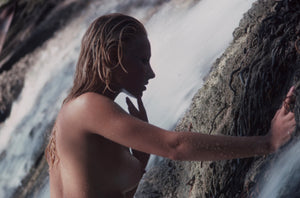Cheryl Rixon nude next to waterfall