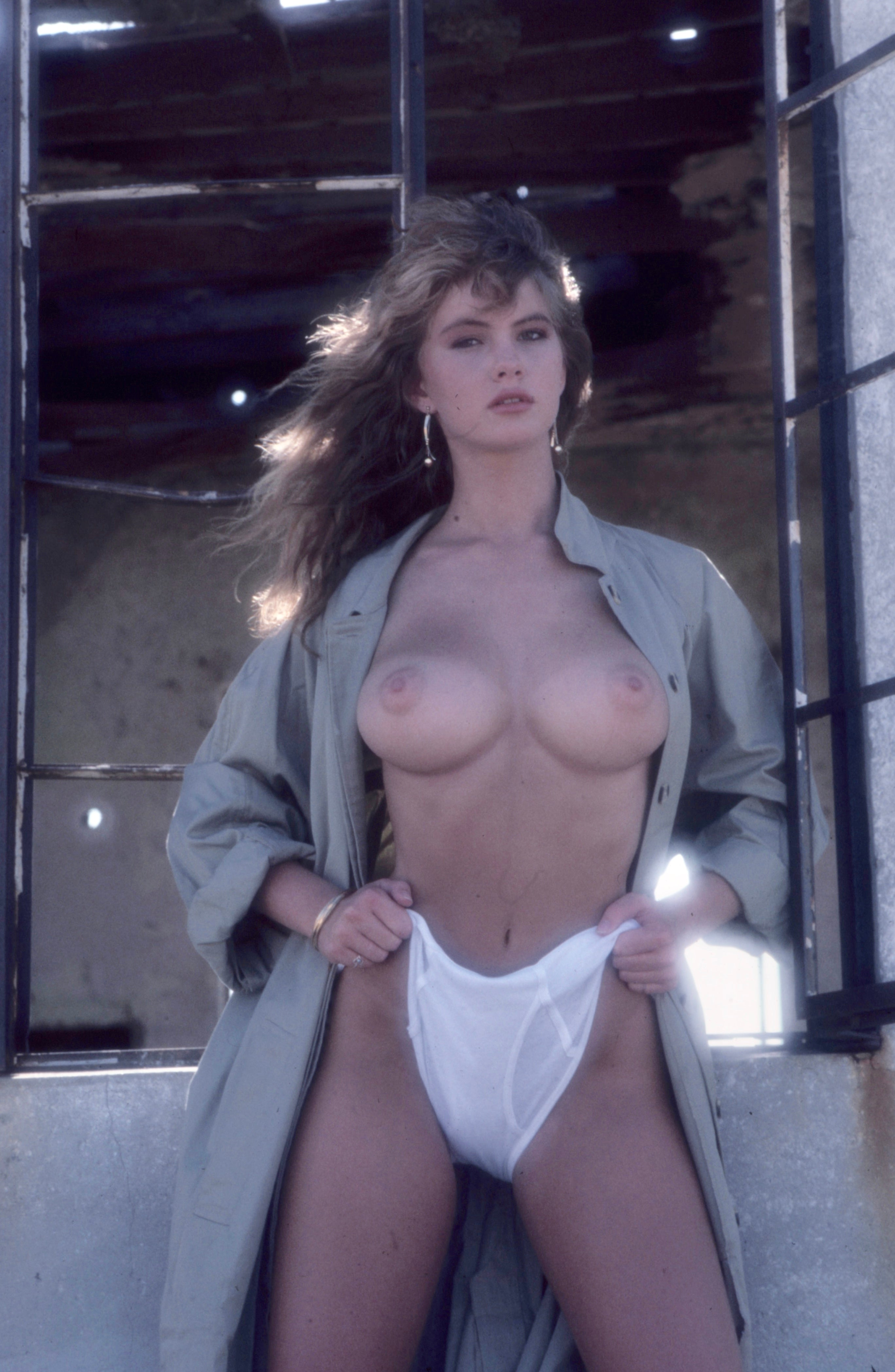 Joanne Szmereta breast exposed in trench coat