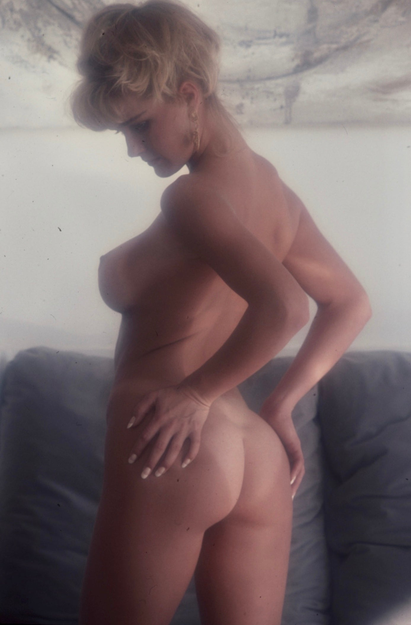 Stephanie Page nude portrait by Bob Guccione
