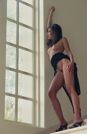 Juliet Cariaga nude pose by window