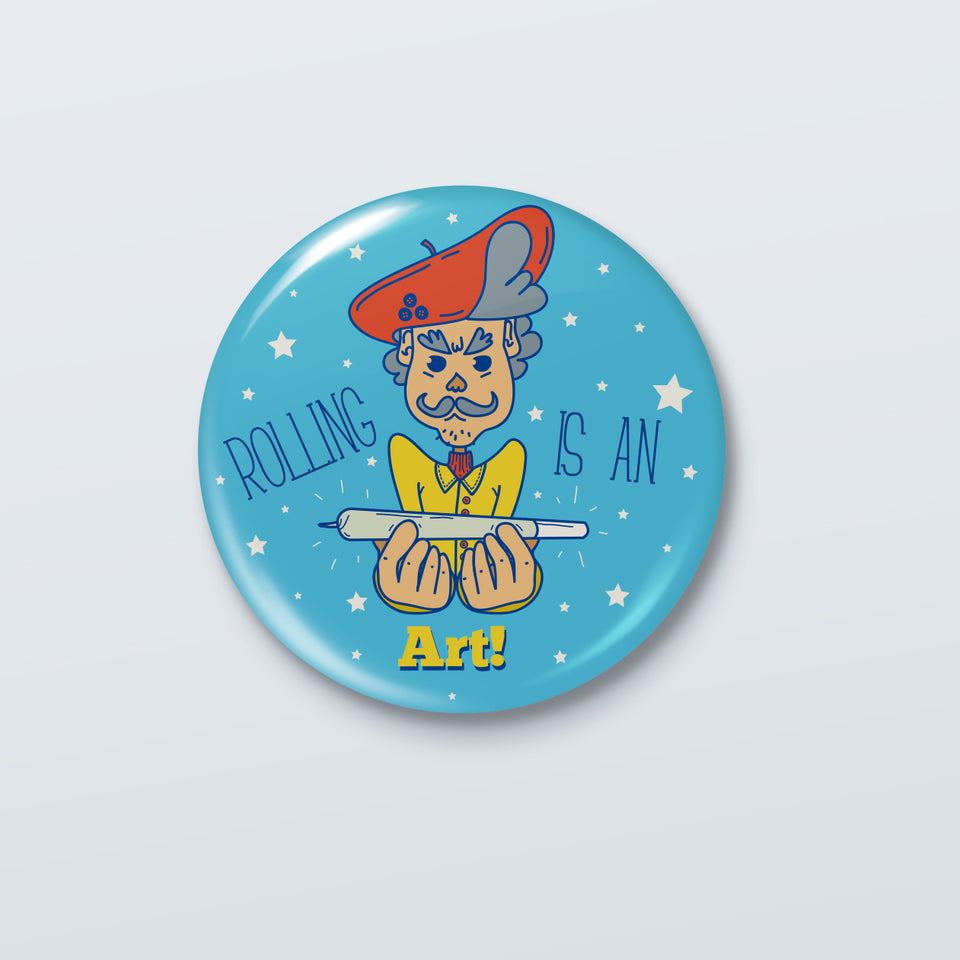 Rolling is an Art - Official Kenny Sebastian Badge