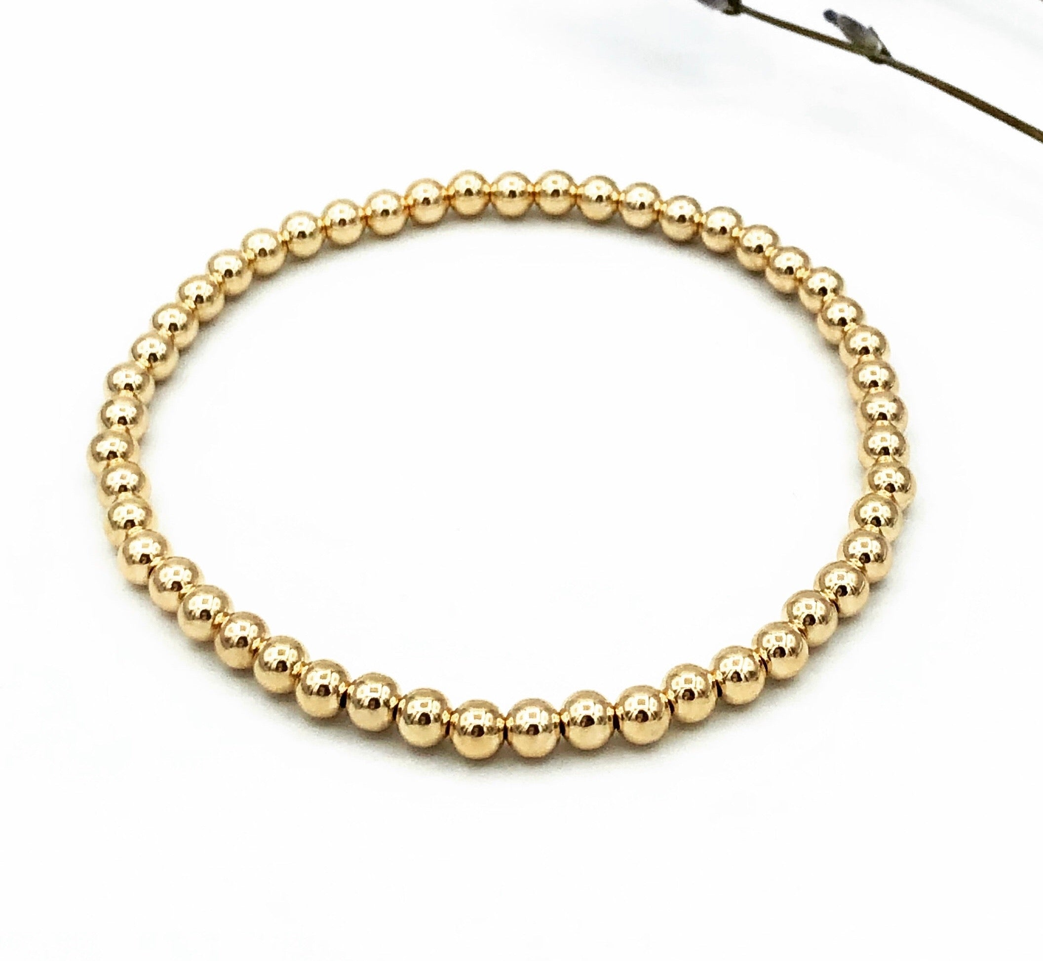 Abigail Gold Stretchable Bracelet
