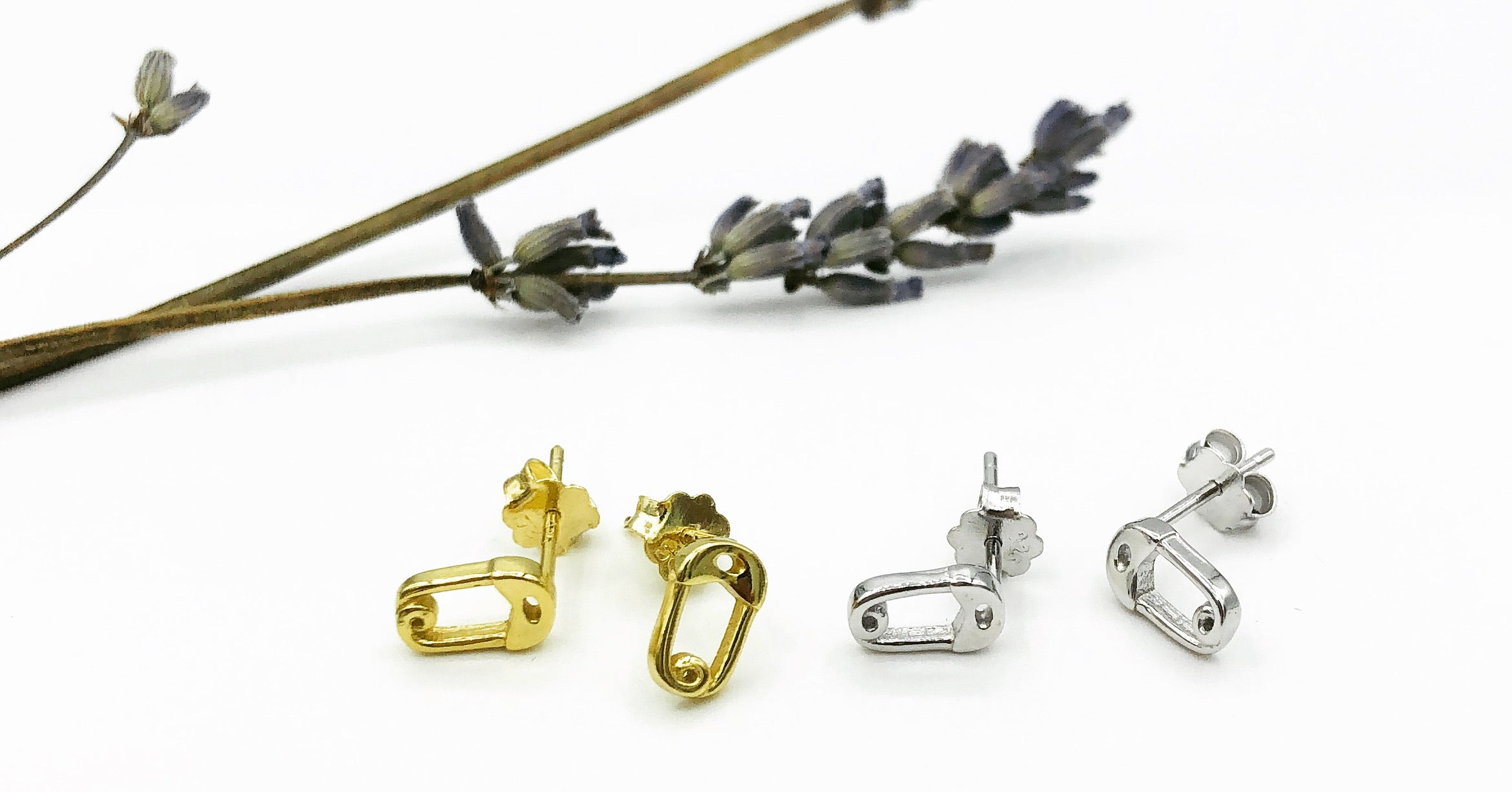 Ayesha Safety Pin Earrings