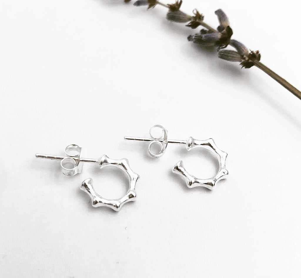 Blakey Semi Hoop Stud Earrings