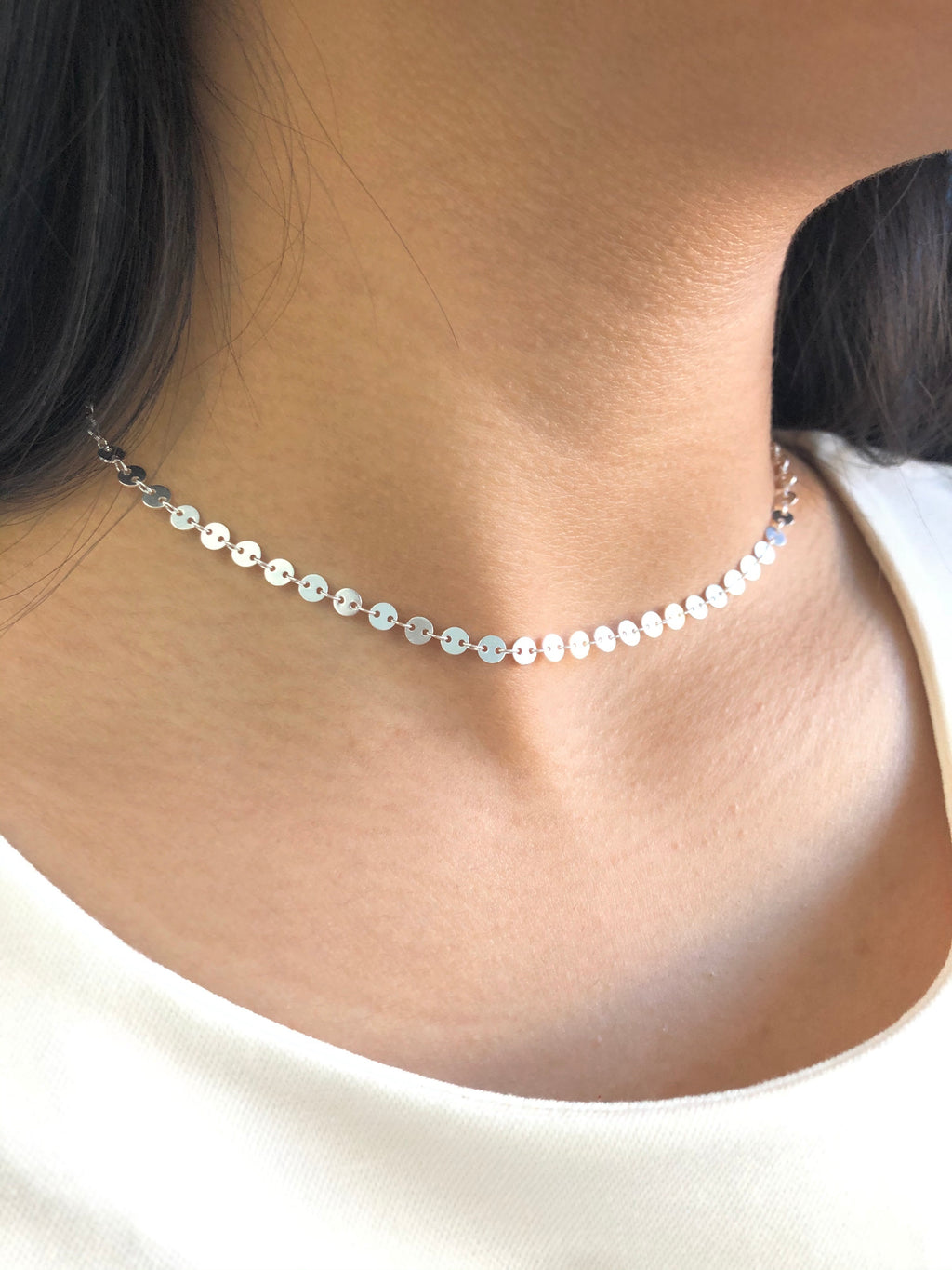 Darlene Coin Choker Necklace