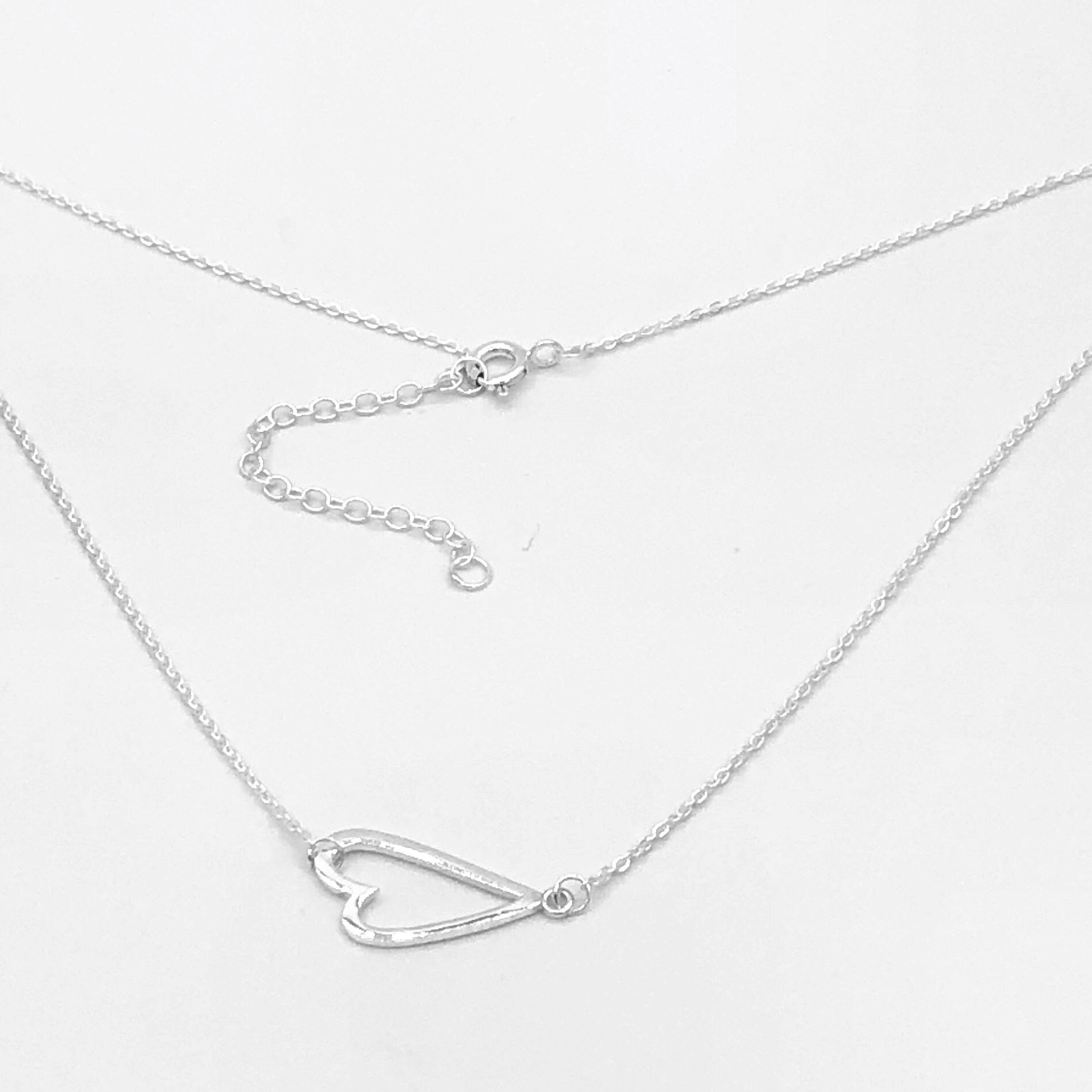 Kara Sideways Heart Necklace