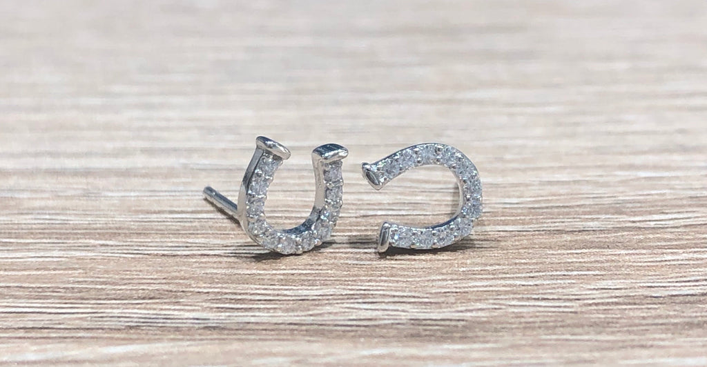 Charna Horseshoe Stud Earrings