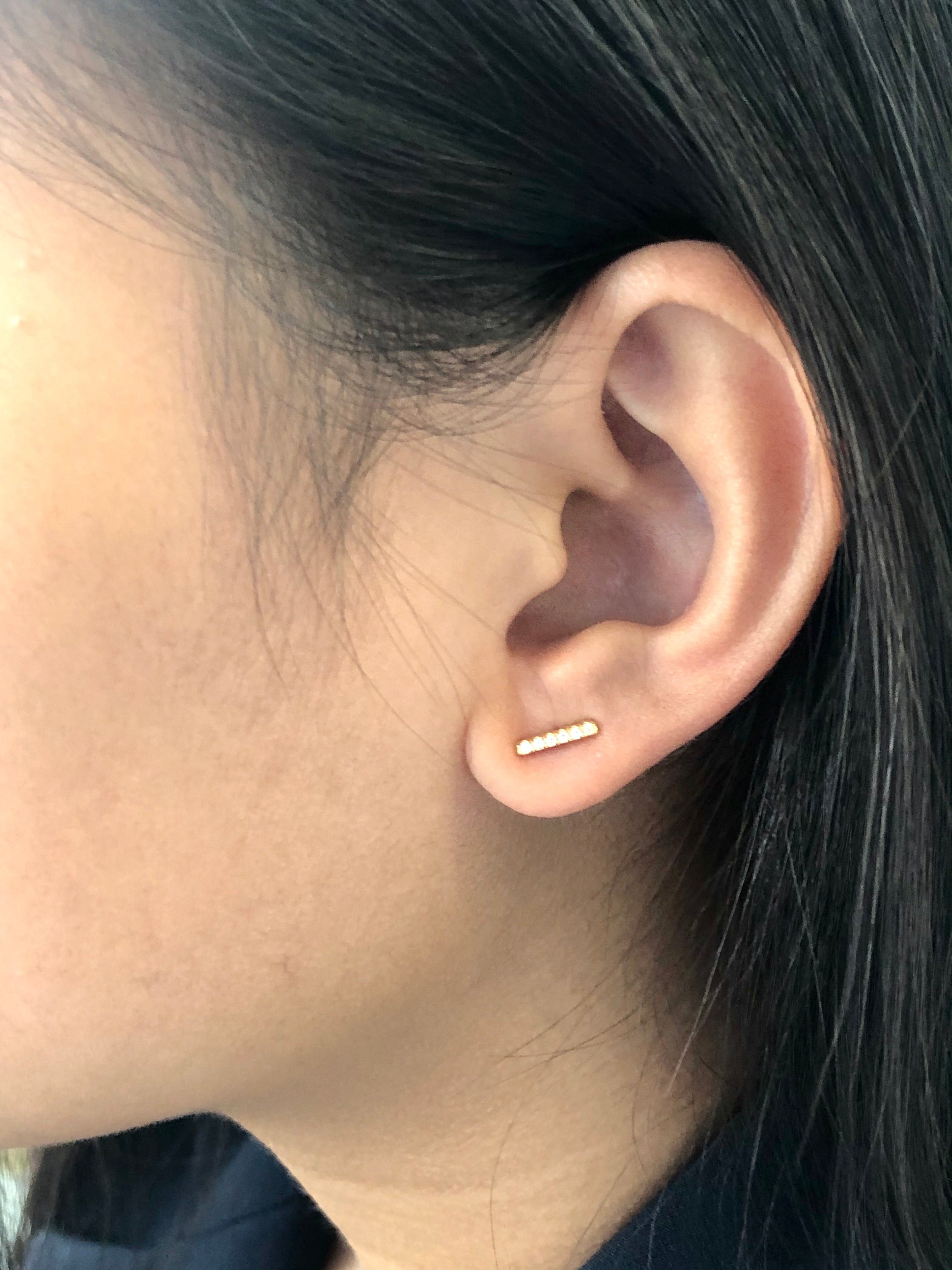 Skye Bar Stud Earrings