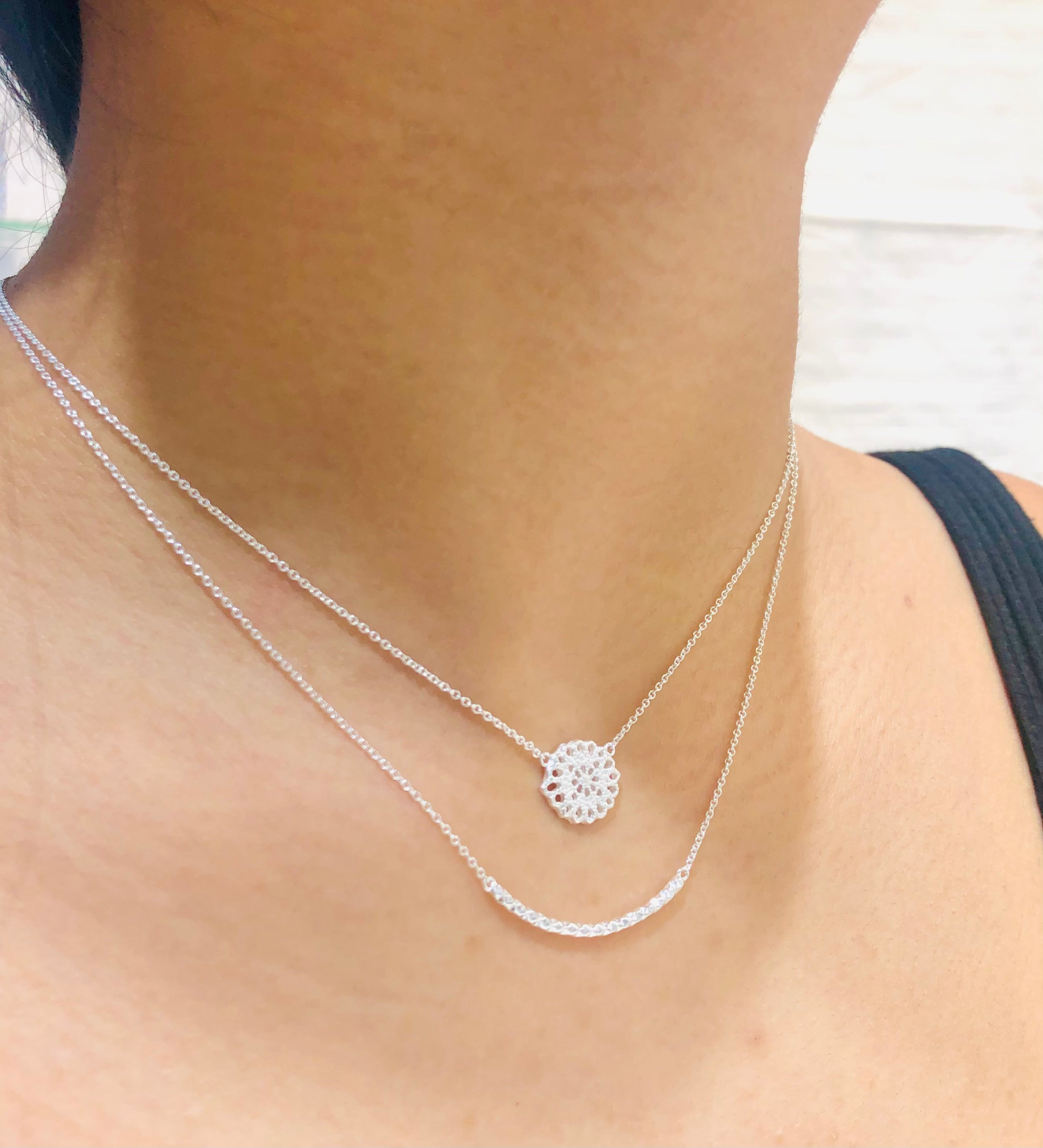 Faceted Curve Necklace