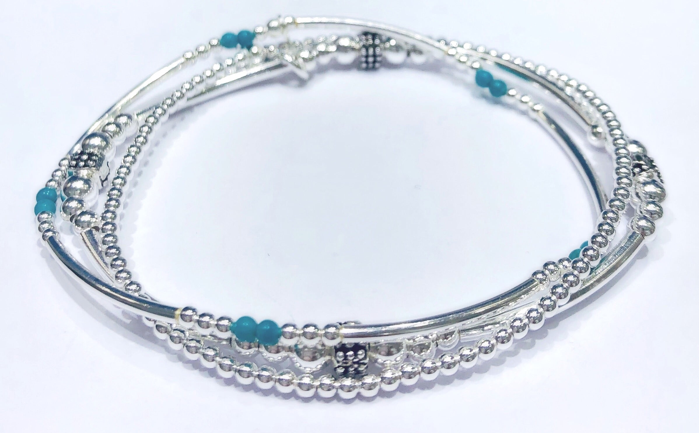 Andrea Turquoise Stretchable Bracelet