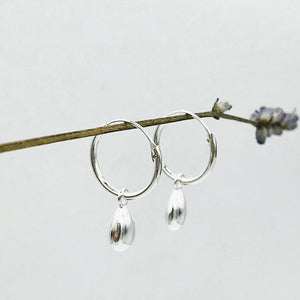 Michella Teardrop Hoop Earrings