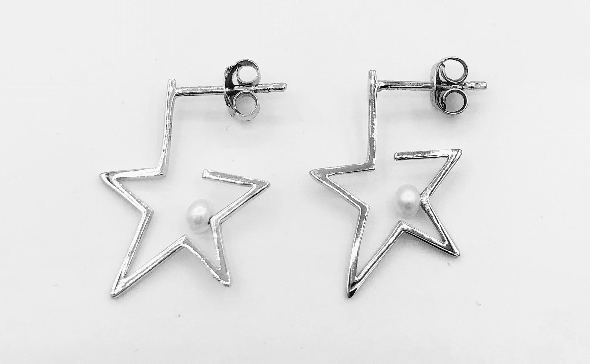 Sarah Star Pearl Earrings