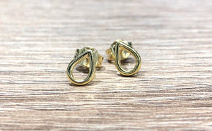 Claire Teardrop Stud Earrings