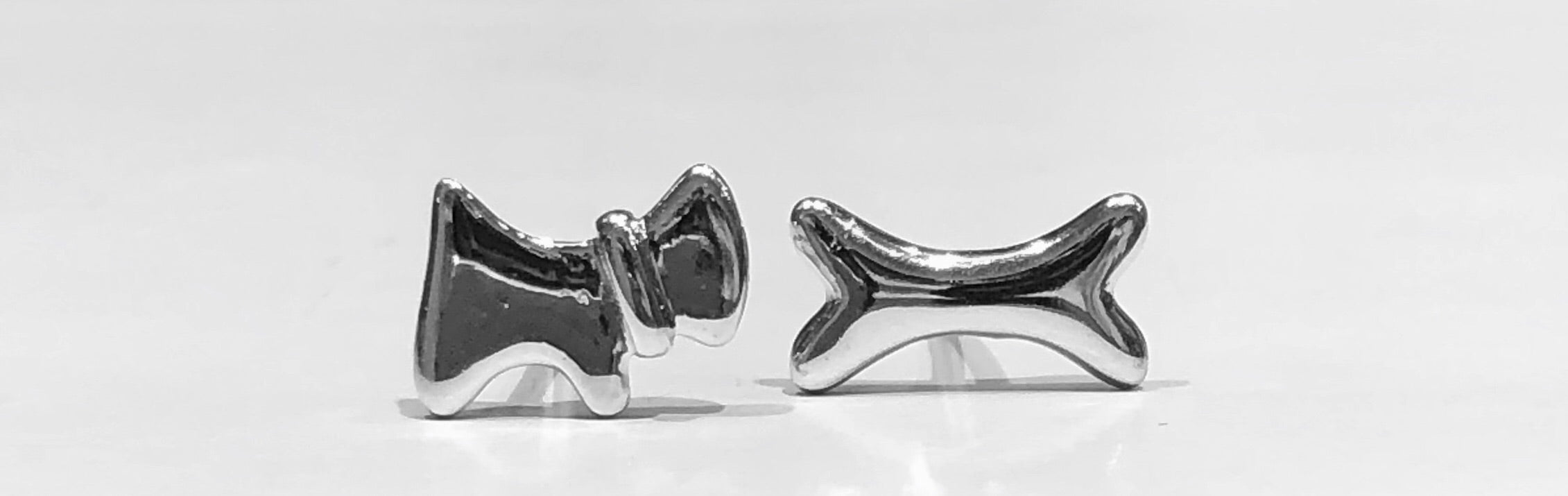 Paola Dog & Dog Bone Stud Earrings