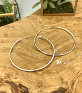 Isabela Classic Hoop Earrings (50mm)