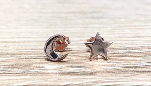 Skylar Moon and Star Stud Earrings