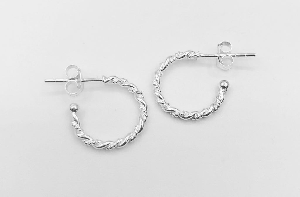 Charlotte Semi Hoop Stud Earrings