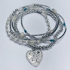 Noelle Heart Stretchable Bracelet