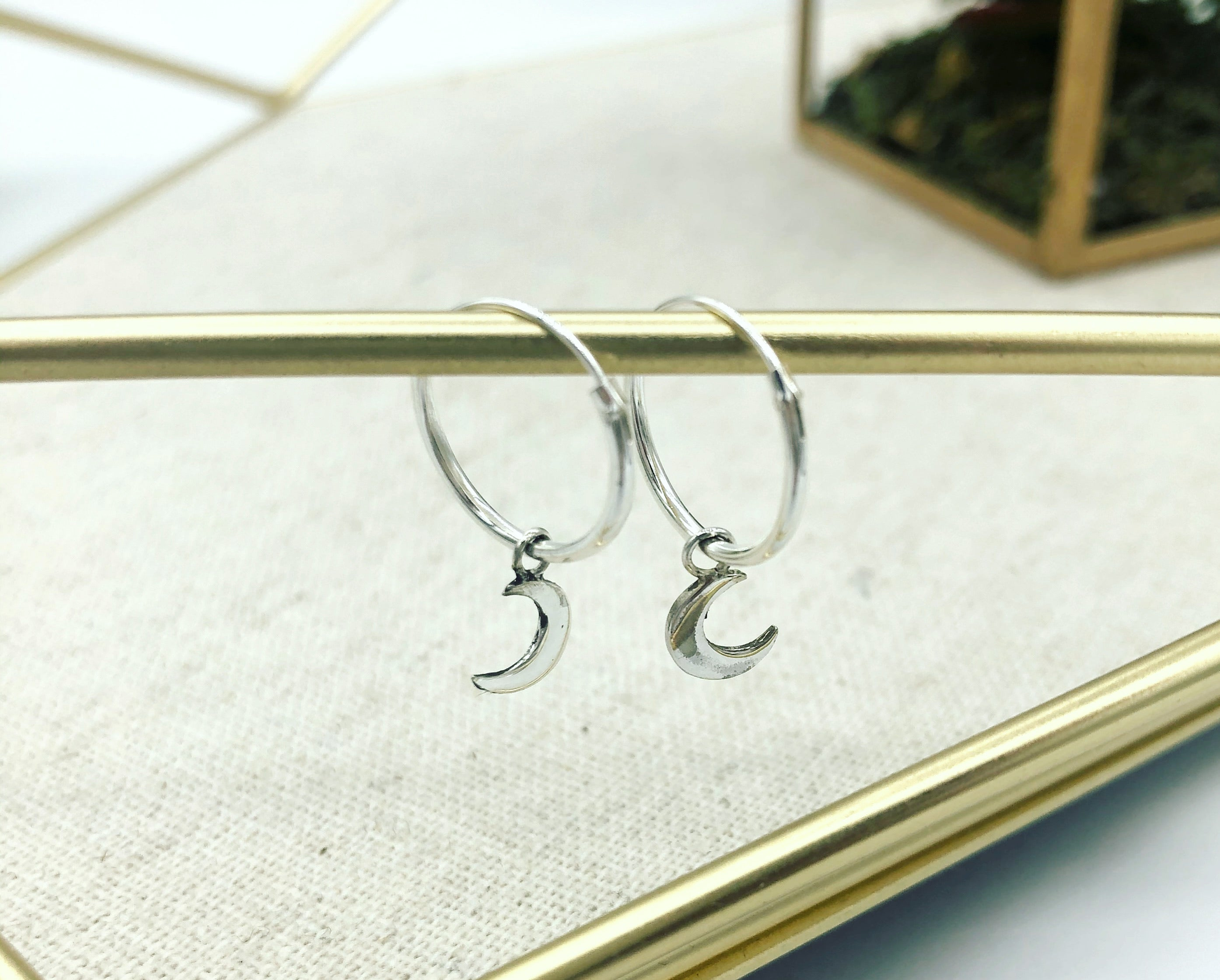 Michella Moon Hoop Earrings