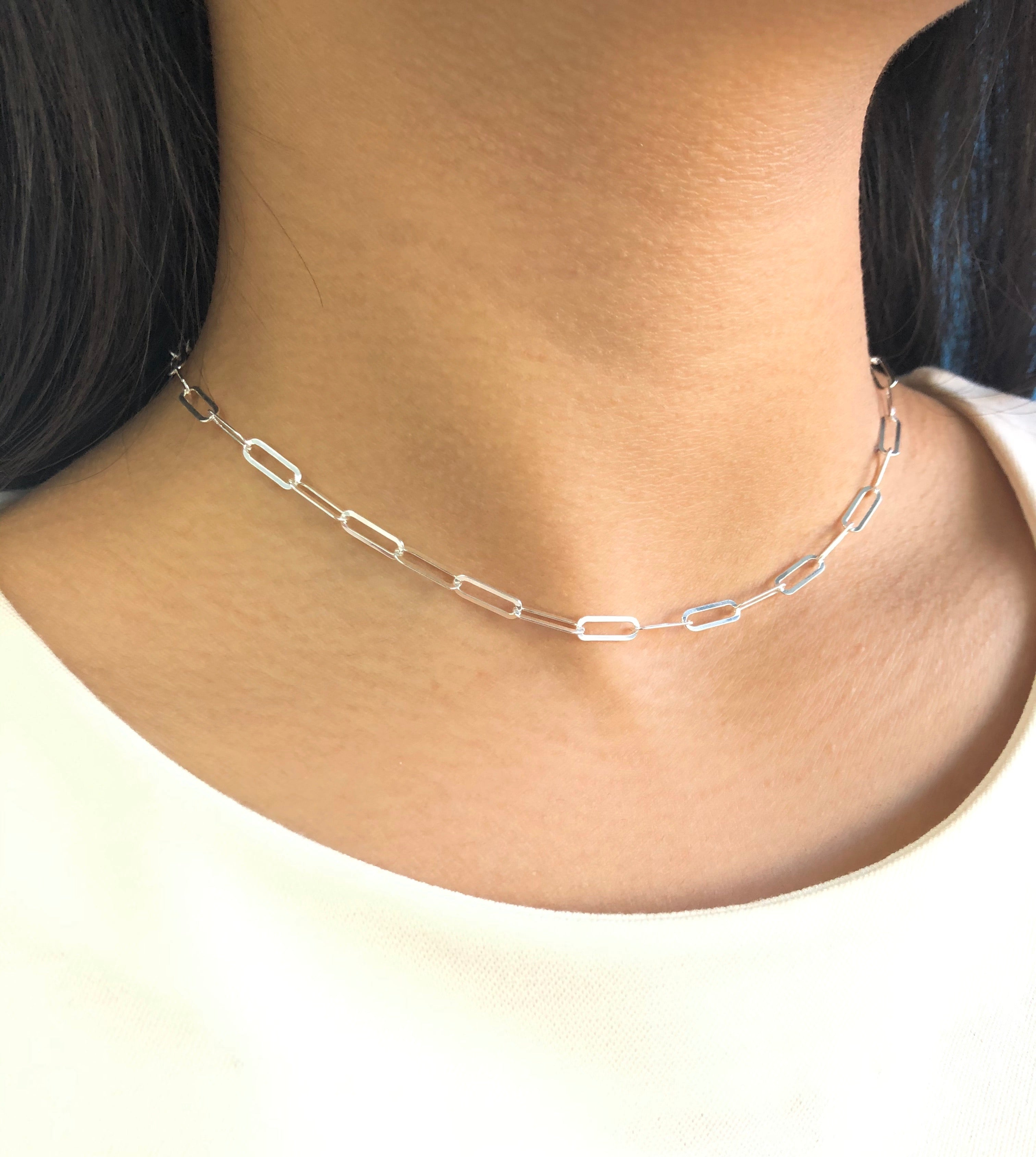 Madison Paperclip Choker Necklace