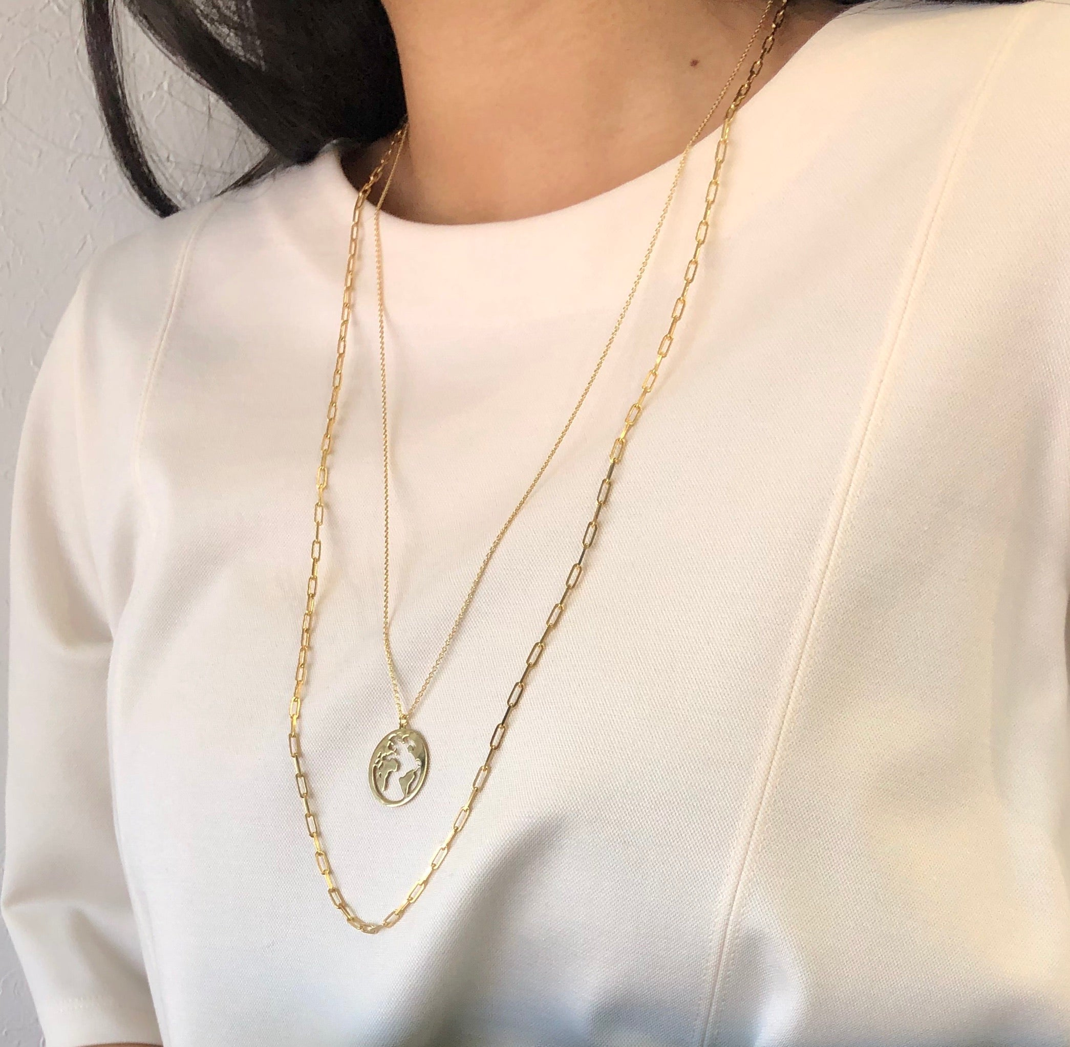 Shelby Globe Necklace