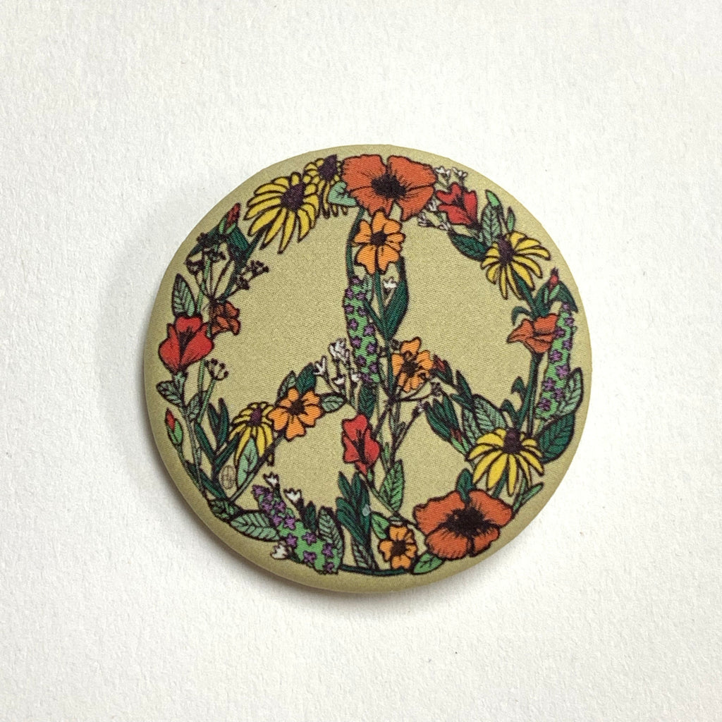 Wildflower Peace Sign Pin