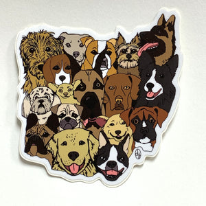 Ohio Dogs Vinyl Sticker