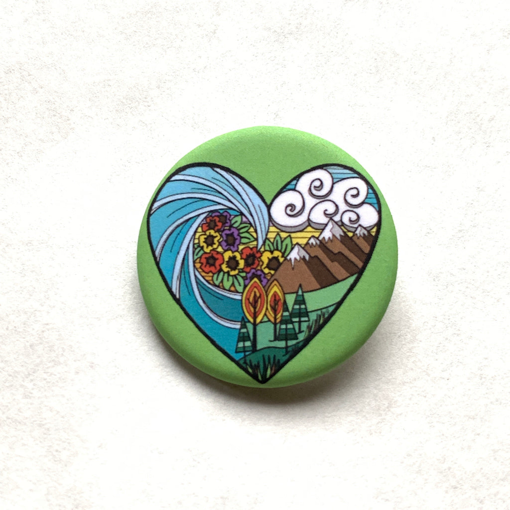 I love Nature Pin