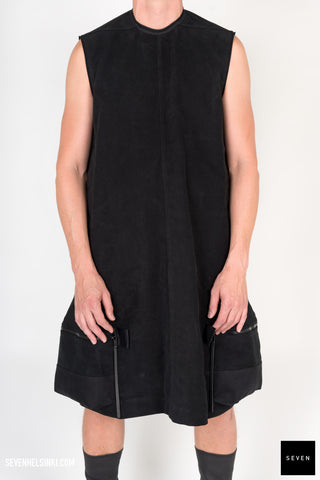 SLEEVELESS PANNIER CARGO DRESS