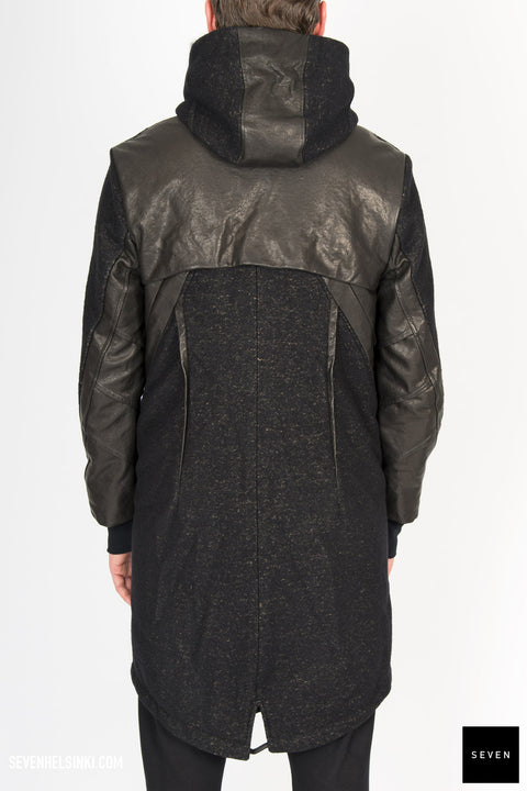 HOODED COAT W/ REMOVABLE LINING