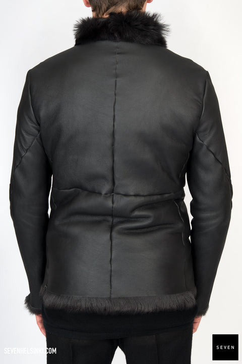 BLACK SHEEP SHEARLING JACKET