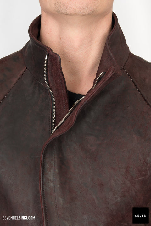 RED HORSE BUTT LEATHER JACKET