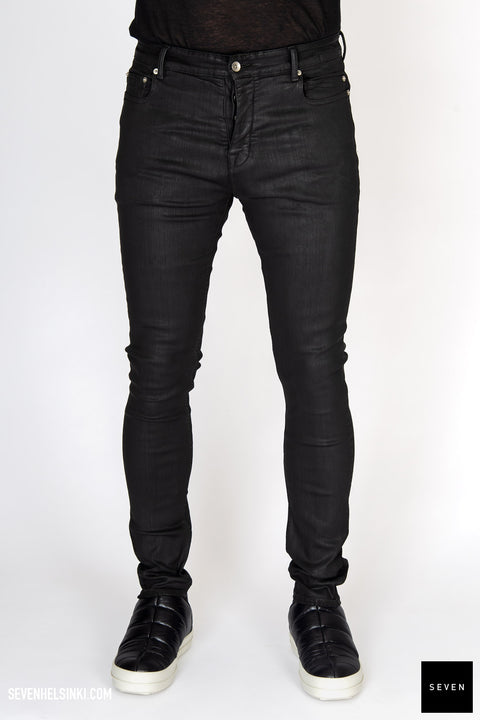 RICK OWENS DRKSHDW DENIM JEANS BLACK WAX TYRONE CUT FW20
