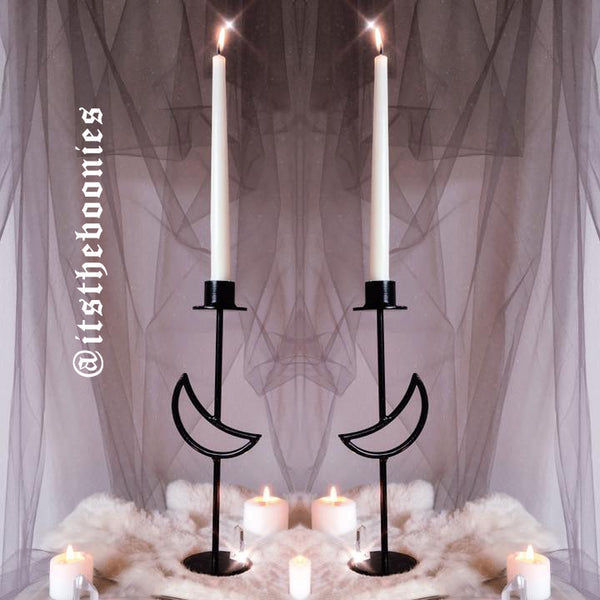 Boonies Nyxturna collab lunar candlestick in matte black