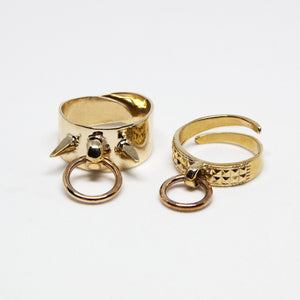 Bound Ring ((Studded)) *READY TO SHIP*