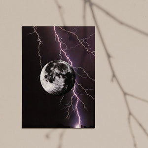 Lunar Lightning collage archival giclee photo print