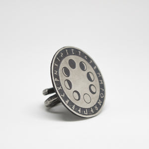 Moon Phase & Rune Ring - Ready To Ship