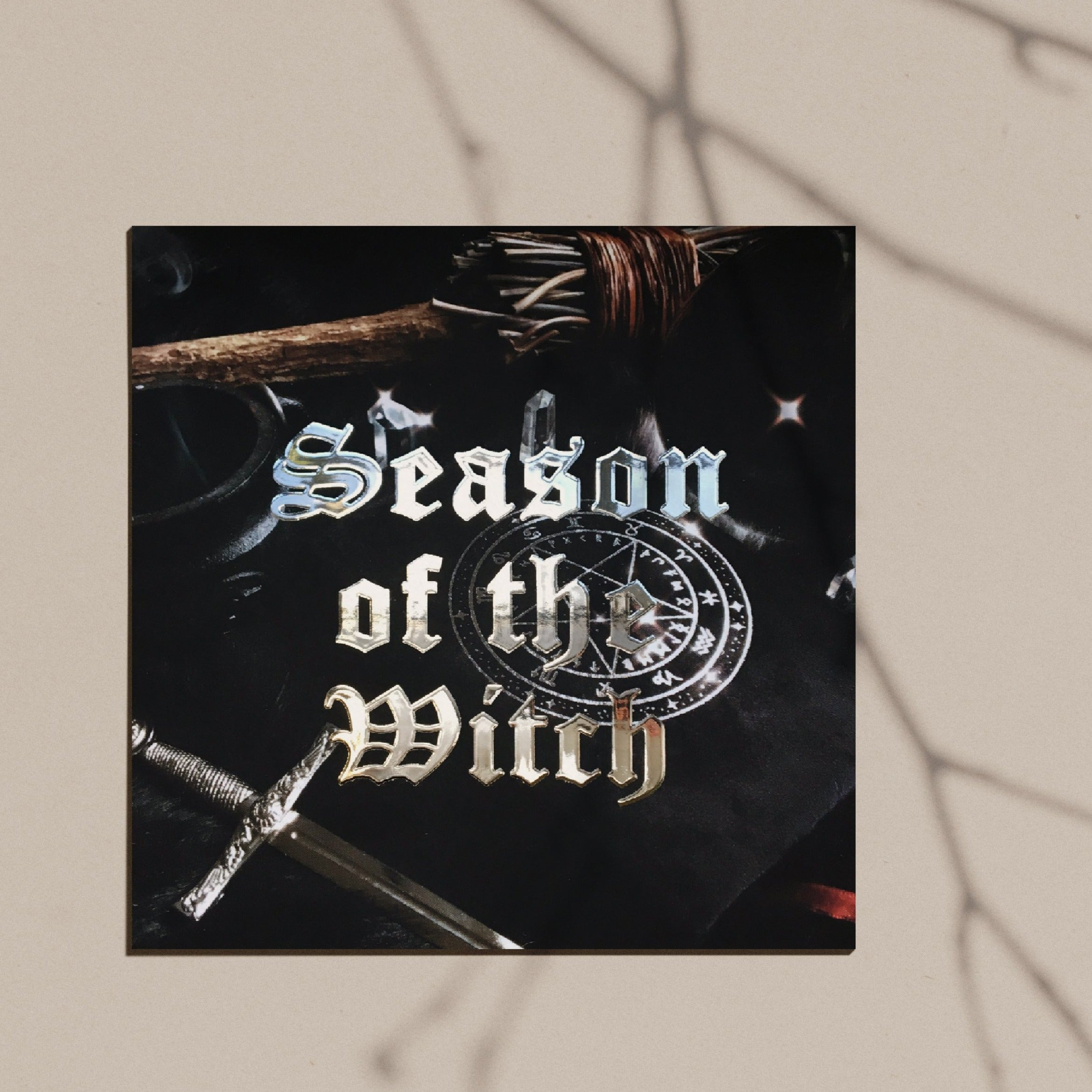 Season of the Witch Silver Foil Postcard Print