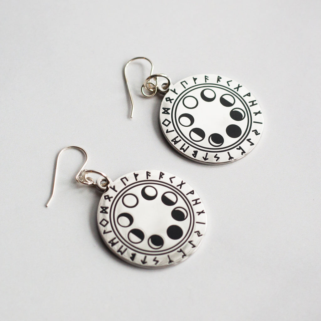 Moonphase & Rune Earrings