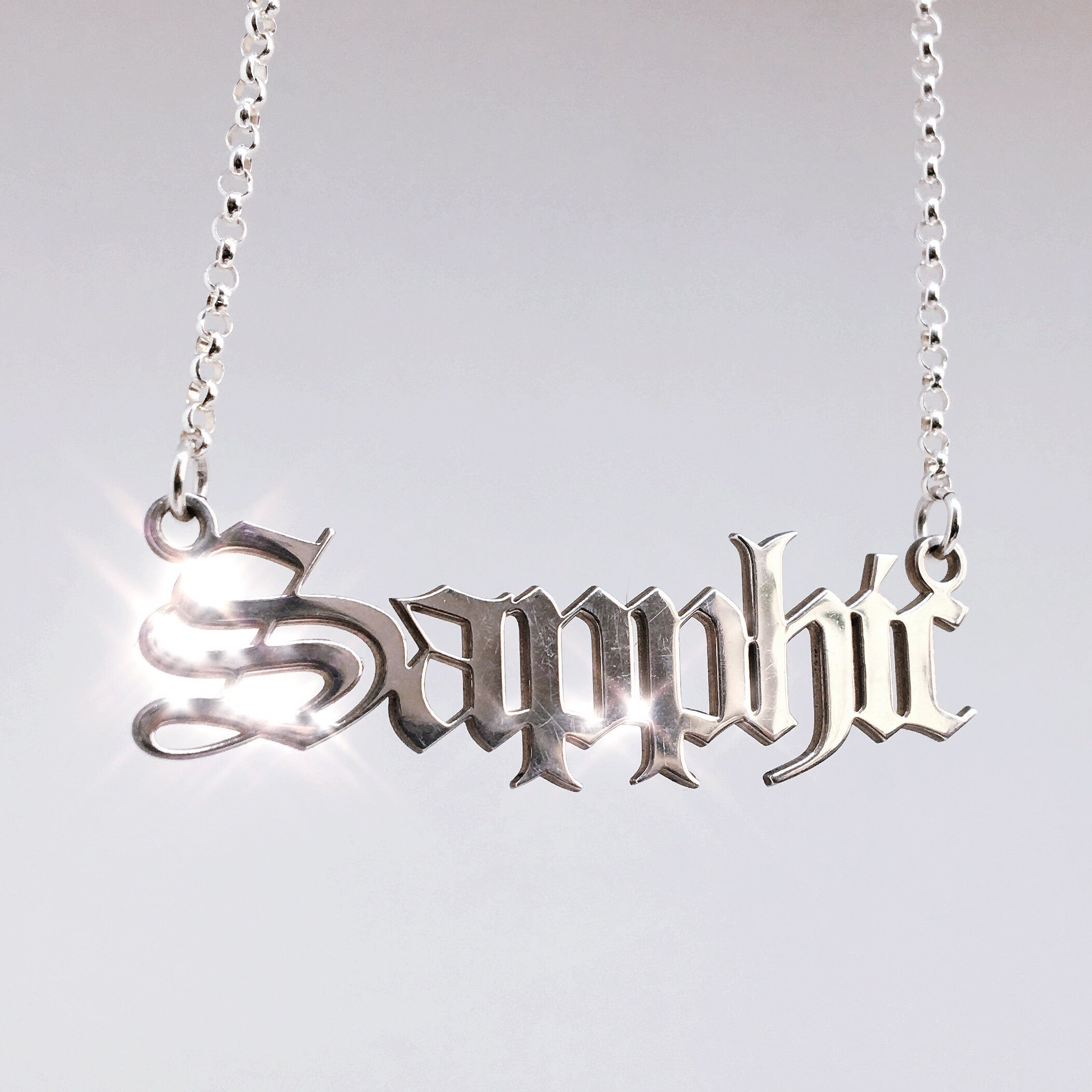 Sapphic Necklace *READY TO SHIP*