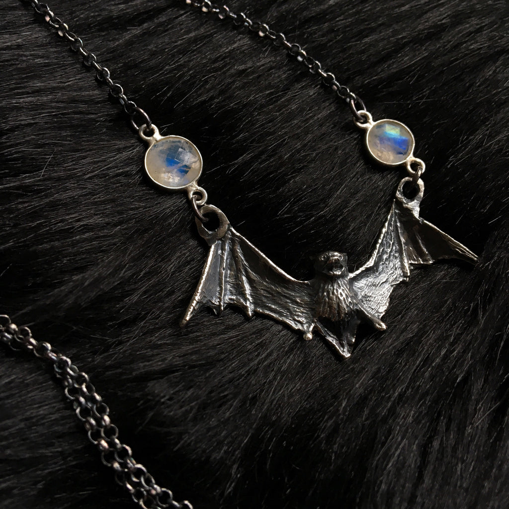 Crystal Bat Necklace - Ready To Ship