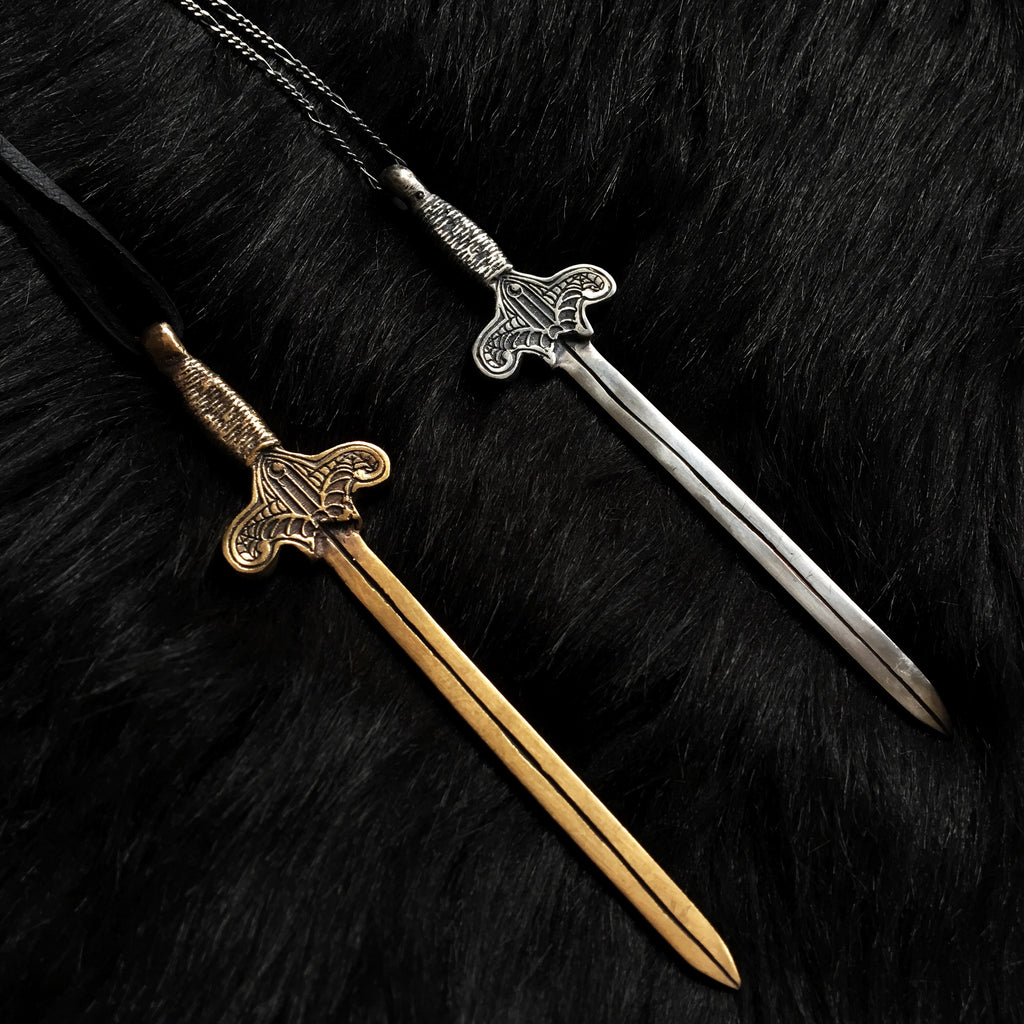 Gothic Warrior : Sword Necklace -- Ready To Ship