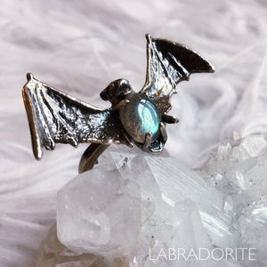Crystal Bat Ring - Ready To Ship