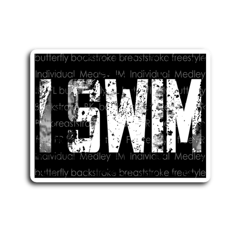 I Swim Sticker