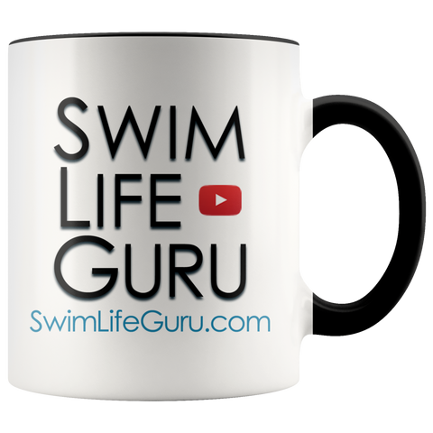 SwimLifeGuru Color Accent Mugs
