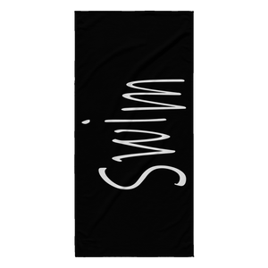 Swim Scribble Beach Towel