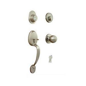 Nickel Front Door Handle Set