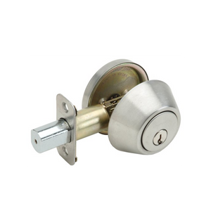 Nickel Single Cylinder Deadbolt