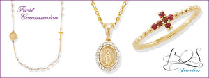 First Communion, baby jewelery, milestone jewelry, modern religious merchandise for kids